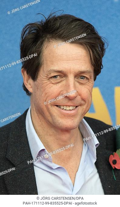 """The actor Hugh Grant arrives for the German premiere of """"""""Paddington 2"""""""", which will come to German cinemas on 23 November 2017, in Berlin, Germany"""