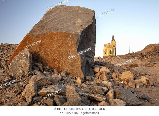 View of Felsenkirche - Church on the Rocks - Luderitz, Namibia, Africa