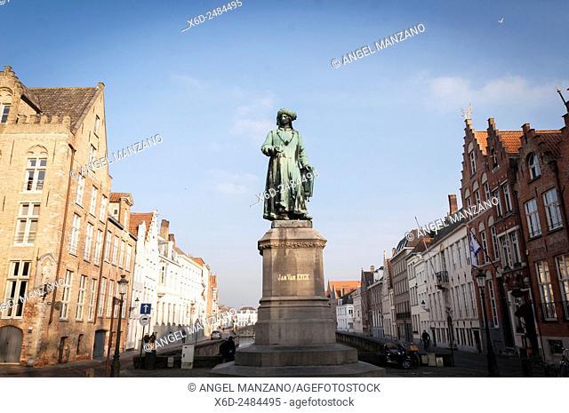 Van Eyck square, Bruges, Belgium