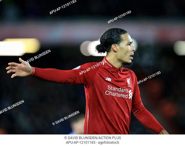 2019 EPL Premier League Football Liverpool v Leicester City Jan 30th. 30th January 2019, Anfield, Liverpool, England; EPL Premier League football