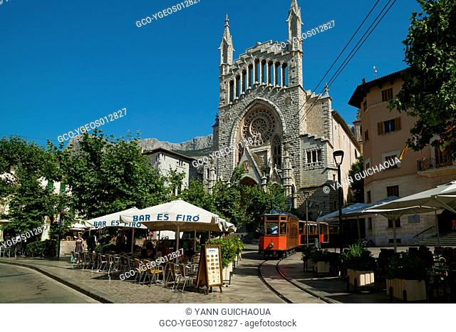 The Church Of Sant Bartomeu, Soller,Island Of Palma,Balearic Islands,Spain