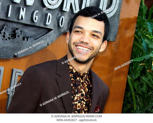"""""""Jurassic World: Fallen Kingdom"""" Premiere held at Walt Disney Concert Hall in Los Angeles, California. Featuring: Justice Smith Where: Los Angeles, California"""
