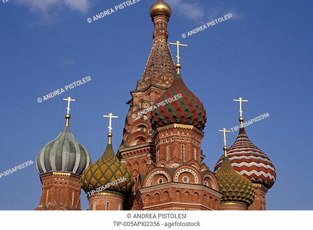 Russia, Moscow, Red Square. St. Basil Cathedral