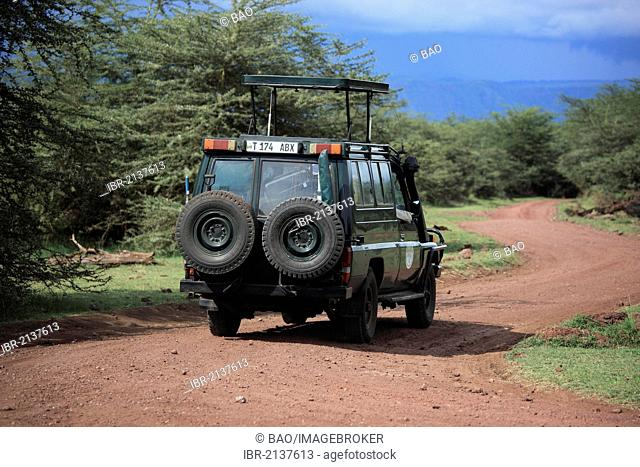 Game drive in Serengeti National Park, Tanzania, Africa
