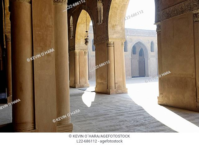The Mosque of Ahmad ibn Tulun completed in 879 AD on Mount Yashkur in a settlement named al-Qata'i by the founder of Egypt's  Tulunid Dynasty (868-905 AD)