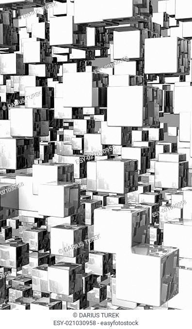 Mega cubes background silver 02