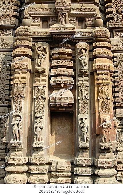 Orissa Bhubaneshwar - Muktesvara Temple- Decorative niche, now deity missing, southern wall of the main temple