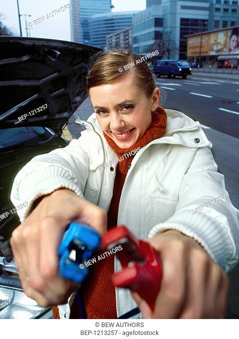 Woman at the car