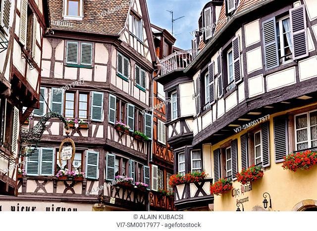 Half-timbered houses, Colmar, Haut-Rhin, France