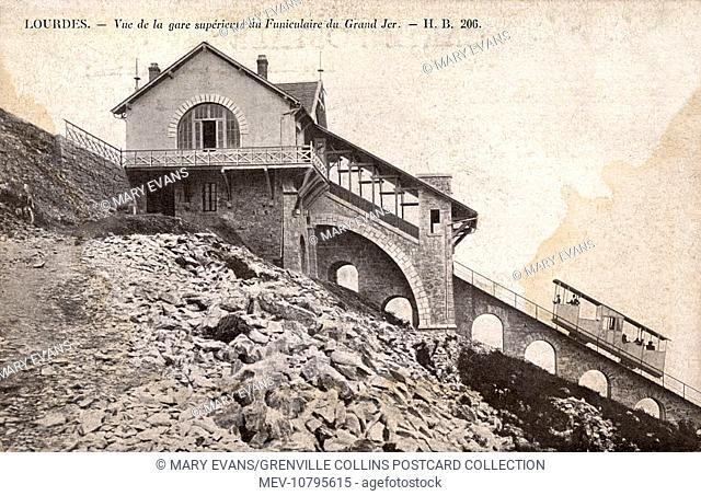 Lourdes, Frances - Funicular Railway - Grand Jer