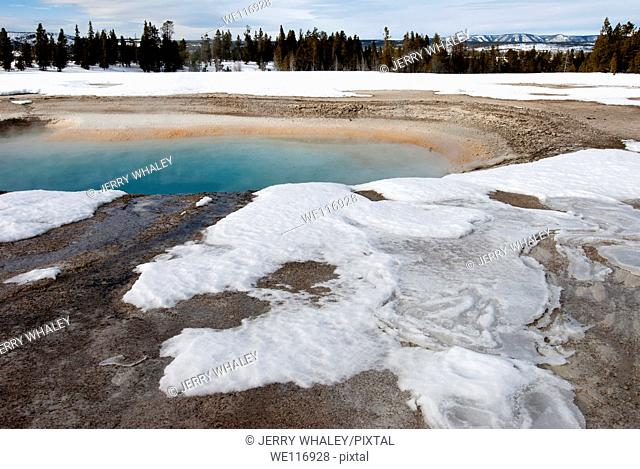 Turquoise Pool, Midway Geyser Basin, Yellowstone National Park, WY