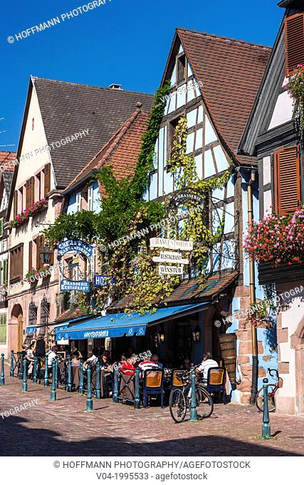 Picturesque timbered houses in Kaysersberg, Alsace, France, Europe