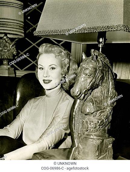 The American actress Virginia Mayo