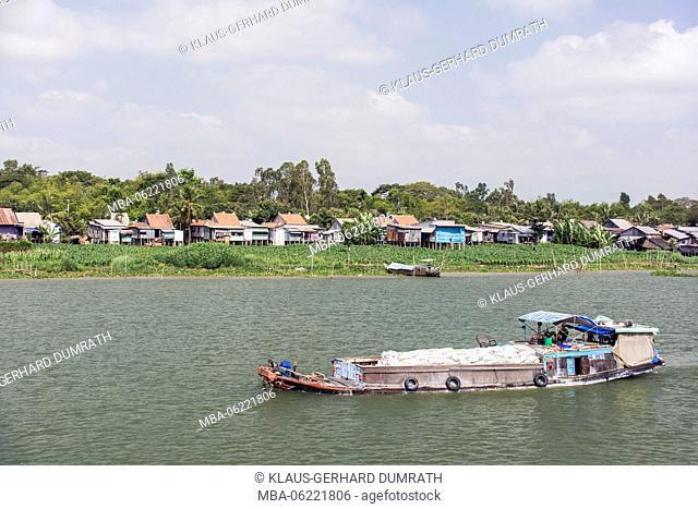 Vietnam, life on the Mekong Delta, fishing boat