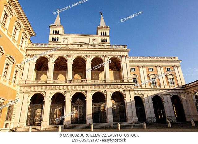 Loggia delle Benedizioni on the back left side of Papal Archbasilica of St. John Lateran