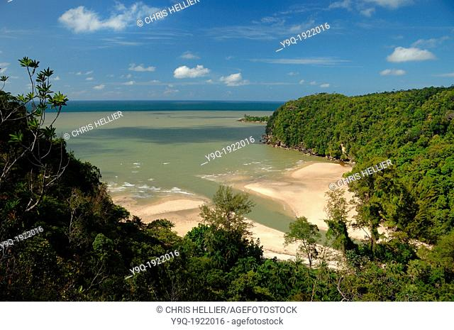 Telok Pandan Besar Beach Rain Forest and Coast Bako National Park Sarawak Borneo Malaysia