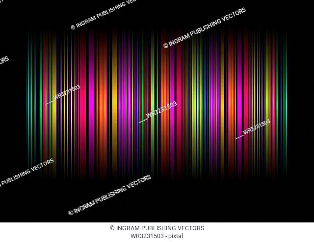Neon rainbow abstract background with ribbons of colour