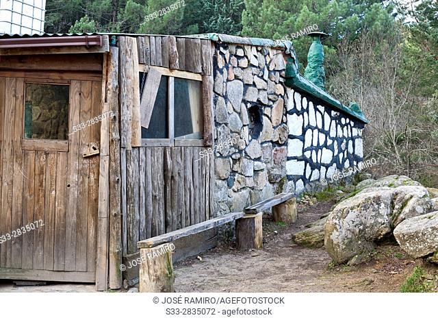 Refuge at the Camorza gorge in the Pedriza. Regional Park del Ato Manzanares. Manzanares el Real. Madrid. Spain. Europe