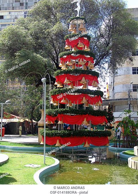 a decorative christmas tree at pernambuco