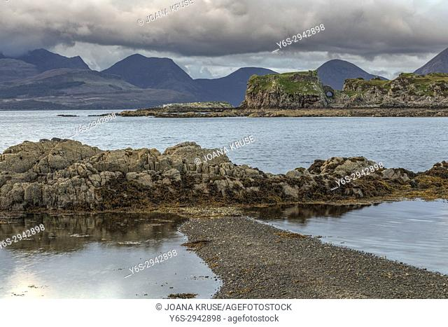 Tokavaig, Dunscaith Castle, Sleat, Isle of Skye, Scotland, United Kingdom