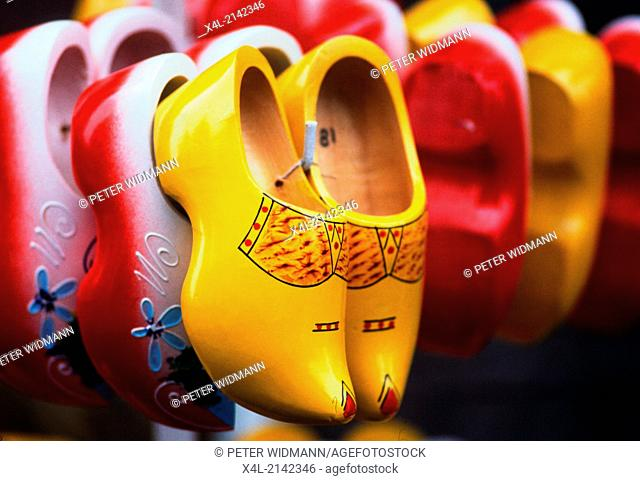 colorful wooden shoes, Netherlands, Amsterdam