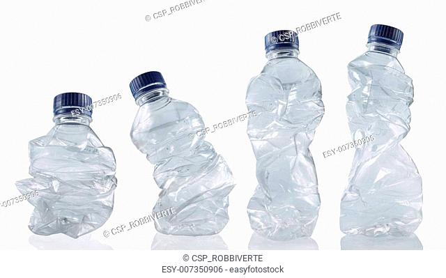 collection of empty used plastic bottles