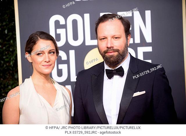Yorgos Lanthimos and Ariane Labed attend the 76th Annual Golden Globe Awards at the Beverly Hilton in Beverly Hills, CA on Sunday, January 6, 2019