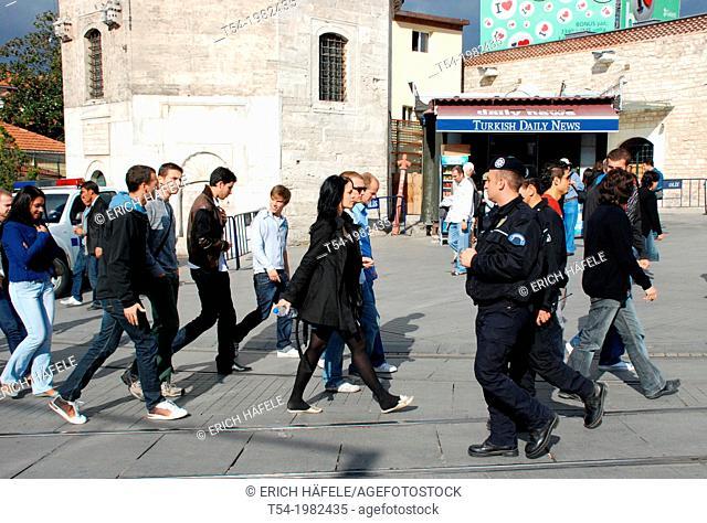 Turkish police at Taksim Square in Istanbul