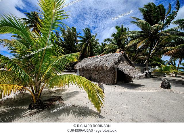 The Pastors house in the settlement of Palmerston on Palmerston Atoll, Cook Islands