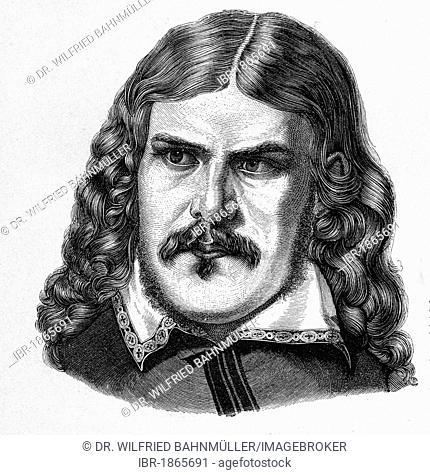 Friedrich Rueckert (1788 -1866), poet, interpreter, steel engraving, before 1880