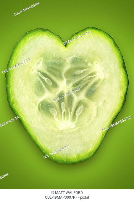 Close up of cucumber slice