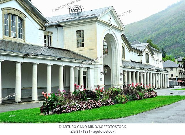The thermal springs. Bagneres de Luchon town; Haute-Garonne department; Occitanie region; France