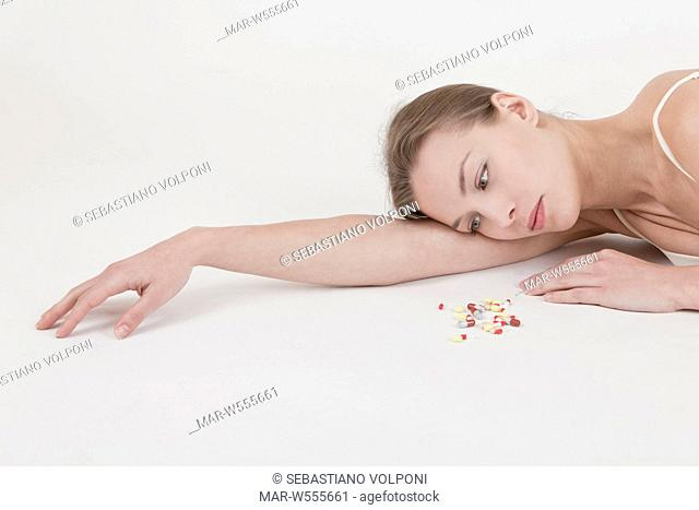 woman with drugs