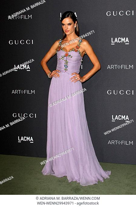 2016 LACMA Art + Film Gala held at the Los Angeles County Museum of Art Featuring: Alessandra Ambrosio Where: Los Angeles, California