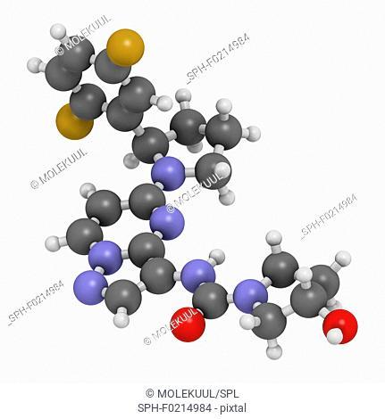 Larotrectinib cancer drug molecule
