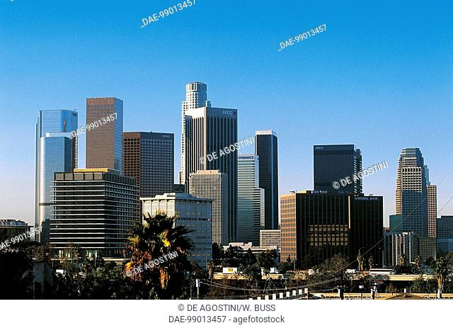 Skyscrapers of Downtown Los Angeles, administrative and financial district of the city, California, United States of America