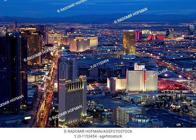 Las Vegas city at night, Nevada, USA