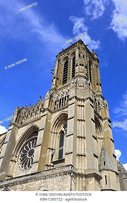 Soissons cathedral, Aisne department, Picardy, France