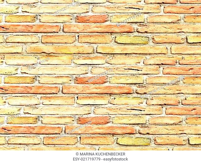 wall of small bricks stones as a background