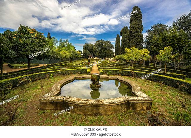 Palatino Hill, Rome, Lazio. The Gardens of Farnese upon the Palatine