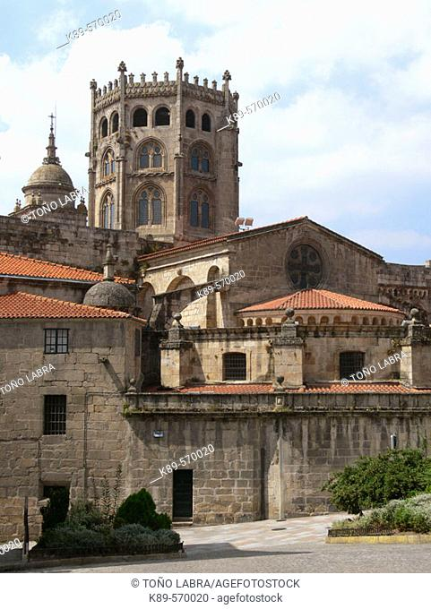 Tower of cathedral, Ourense. Galicia, Spain