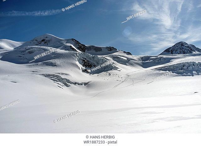 Mountain range, snowcapped, Tyrol, Austria