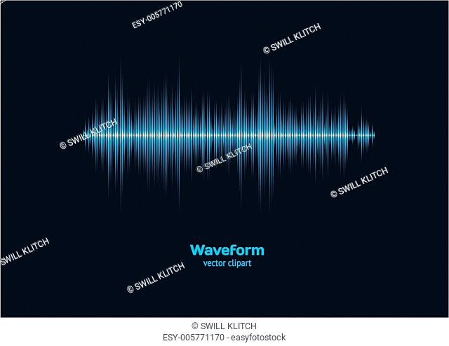 Blue sound waveform