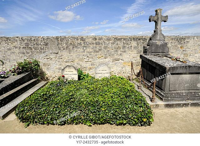 Tombs of Vincent and Theo van Gogh, Auvers sur Oise, Oise, Ile de France, France