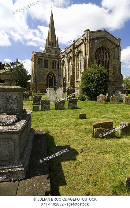 The church at West Adderbury in the Cotswolds, Oxfordshire, UK