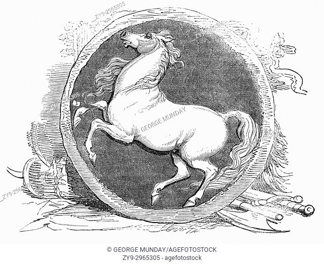 The War Standard of the White Horse: the standard was associated with the Saxons in the Dark Ages. It was also connected with Hengest and Horsa who