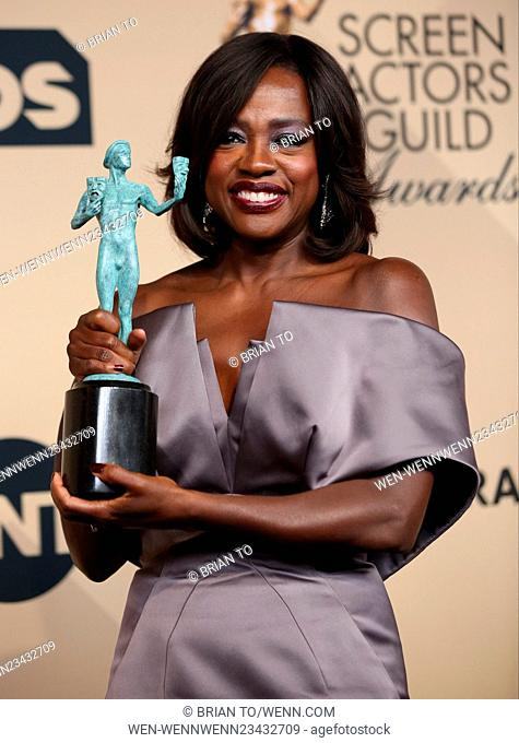 22nd Annual Screen Actors Guild Awards - Press Room Featuring: Viola Davis Where: Los Angeles, California, United States When: 30 Jan 2016 Credit: Brian To/WENN