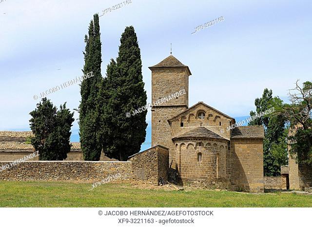 Romanesque church of San Fructuoso. Barós. Huesca province. Aragón. Spain