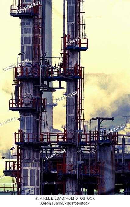 Oil refinery. Muskiz, Biscay, Basque Country, Spain, Europe