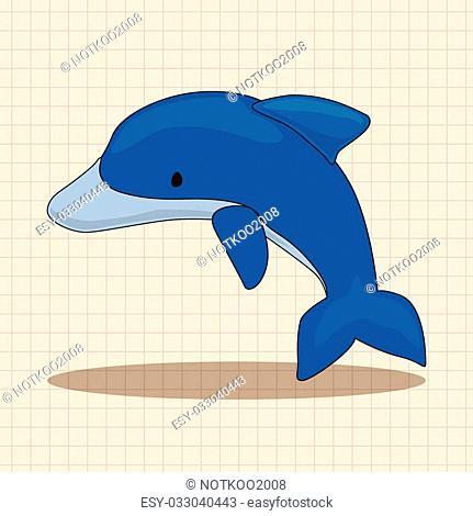 dolphin theme elements vector,eps